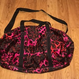 Pink Cheetah print bag